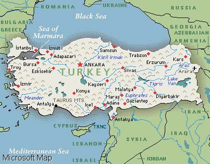 The lands of turkey are located at a point where the three neighbors of turkey gumiabroncs Image collections